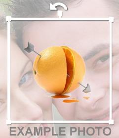Fotomontaje para añadir una naranja flechada de amor en tus fotos