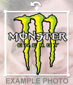 Logo de la marca Monster Energy que puedes pegar en tus imágenes