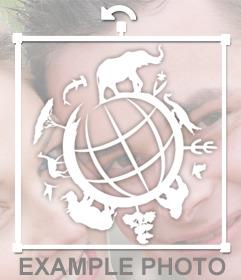 Un sticker del mundo de la vida salvaje para añadir en tus fotos