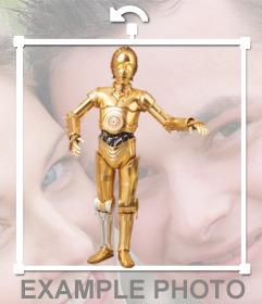 Personaje C-3PO de la Guerra de las Galaxias para añadir a tus fotos