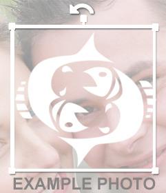 Fotomontaje del signo Piscis para decorar tus imágenes