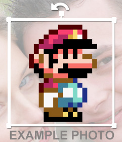 Pegatina del videojuego Mario Bros pixelada