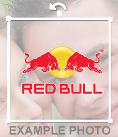 Sticker del logo de Red Bull para poner en tus fotos