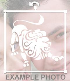Pega el signo LEO en tus fotos con este sticker online
