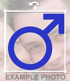 Pon en tus fotos el símbolo masculino gratis con este fotoefecto