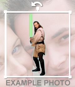 Sticker del personaje Qui-Gon Jinn de Star Wars para tus fotos