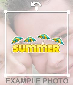 Disfruta el verano con este sticker de SUMMER para tus fotos