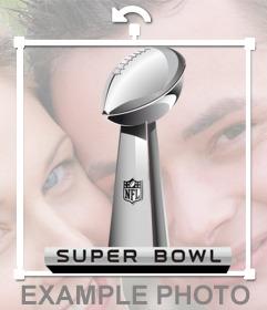 Trofeo del Super Bowl para poner en tus fotos favoritas