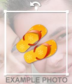 Sticker de unas flip-flops para pegar en tus fotos gratis