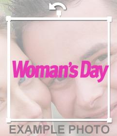 Sticker de Womans Day para poner en tus fotos y celebrar