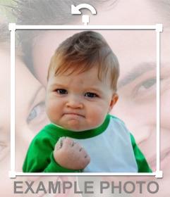 Meme de success kid para ponerlo en tus fotos online como un sticker