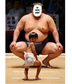Gracioso montaje online para poner tu cara en un luchador de Sumo