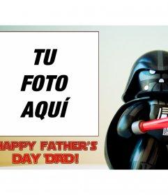Felicita el día del padre con esta graciosa tarjeta de Star Wars