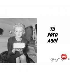 Tarjeta de felicitación con una foto de Marilyn Monroe
