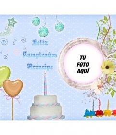 Tarjeta de feliz cumpleaños para felicitar a un niño