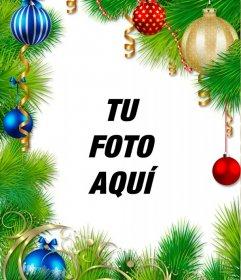 Guirnalda de Navidad para decorar tu foto