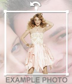 Pon la silueta de Taylor Swift en la foto que tu quieras, haciendo el efecto que está a tu lado!