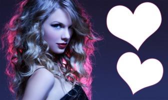 Collage para dos fotos con una imagen de Taylor Swift