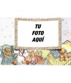 Marco para foto Teddy Bear con ilustraciones de ositos de peluche