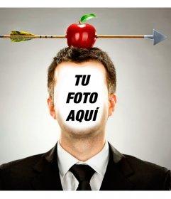 Pon una manzana flechada en tu cabeza con este fotomontaje online