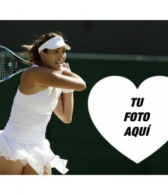 Haz tu fotomontaje con la tenista Garbiñe Muguruza gratis