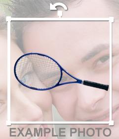 Raqueta de tenis para añadir en tus fotos con este montaje online