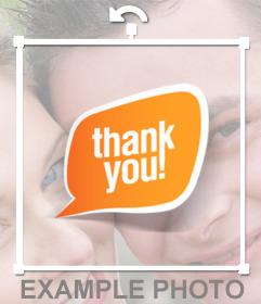 Bocadillo de diálogo con el texto THANK YOU para pegar en tus imágenes