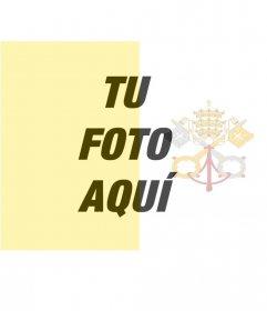 Filtro para poner la bandera de el Vaticano junto con tu foto de fondo