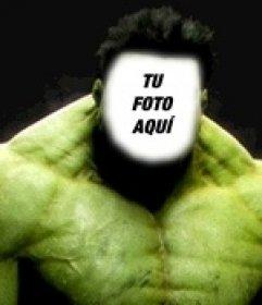 Fotomontaje de Increíble Hulk para ponerle tu cara