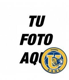 Fotomontaje con el escudo del Tigres UANL de México