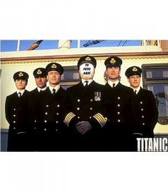 Fotomontaje de el capitán del Titanic. Con tu propia foto!