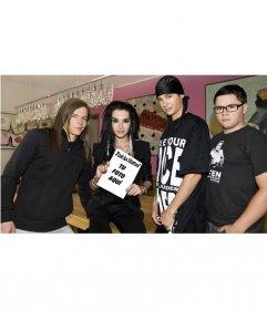 Fotomontaje para salir en la portada de revista con Tokio Hotel