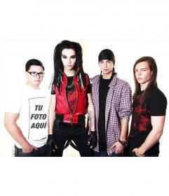 Con este foto efecto saldrás en la camiseta de un integrante de Tokio Hotel