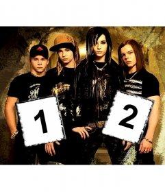 Fondo de pantalla de Tokio Hotel personalizable con dos fotos