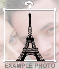 Sticker de la torre Eiffel para poner en tu foto de perfil con nuestro editor online
