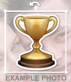 Pegatina de un trofeo de premiación que puedes pegar en tus fotos