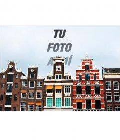 Fotomontaje especial con una foto de Amsterdam