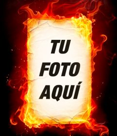 Fotomontaje de foto ardiendo que puedes hacer con tu foto online