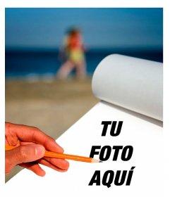 Fotomontaje para poner tu foto en una libreta