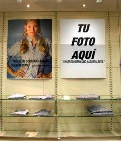 Crea un poster con tus fotos y ponlo en la pared de una tienda de ropa