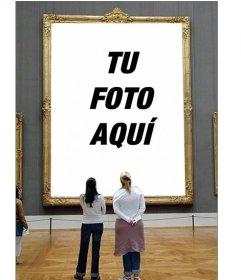 Fotomontaje para poner tu foto en un cuadro