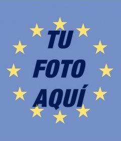 Bandera de la unión europea para poner en tu foto