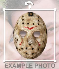 Pegatina de la máscara de Jason para tu foto