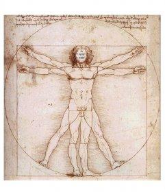 Tu cara incluida en el famoso hombre de vitruvio, de Leonardo Da Vinci, marco con el que sorprender
