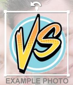Sticker de Versus para poner en tus fotos y simbolizar una lucha o reto entre dos personas con el signo de VS