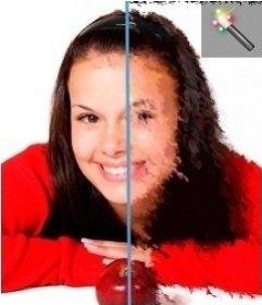 Efecto de filtro tipo acuarela para tus fotos online
