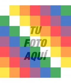 Filtro con la bandera Wiphala de Bolivia