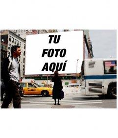 Fotomontaje para poner tu foto en una valla publicitaria de una calle de New York