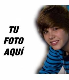 Plantilla de montajes con personajes famosos y populares junto a Justin Bieber