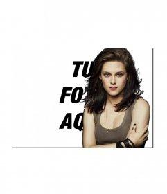 Fotomontaje para poner tu foto junto a Kristen Stewart
